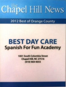 Spanish for fun academy Best Day Care 2012